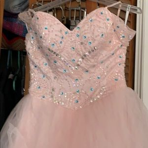 Baby pink prom gown